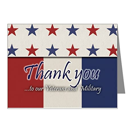 amazon com cafepress thank you veterans rwb note cards blank