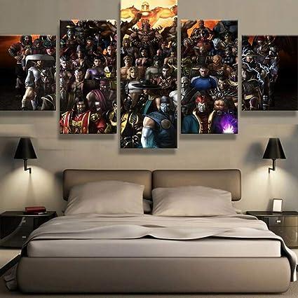 Amazon.com: JSBVM 5 Panel Canvas Modern Abstract HD Prints Mortal ...