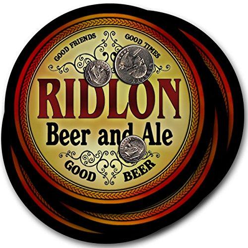 Ridlonビール& Ale – 4パックドリンクコースター   B003QXV40I