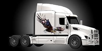 e38fb1414e Amazon.com  American Eagle Flag Truck Semi Rv Trailer Wall Window ...