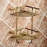 Rack shelf European Retro Bathroom Accessories Bathroom Racks Copper Bathroom Accessories ( Size : B )