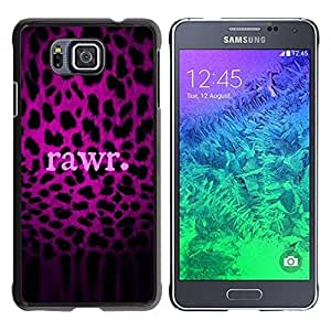 LASTONE PHONE CASE / Slim Protector Hard Shell Cover Case for Samsung GALAXY ALPHA G850 / Text Leopard Pattern Fur