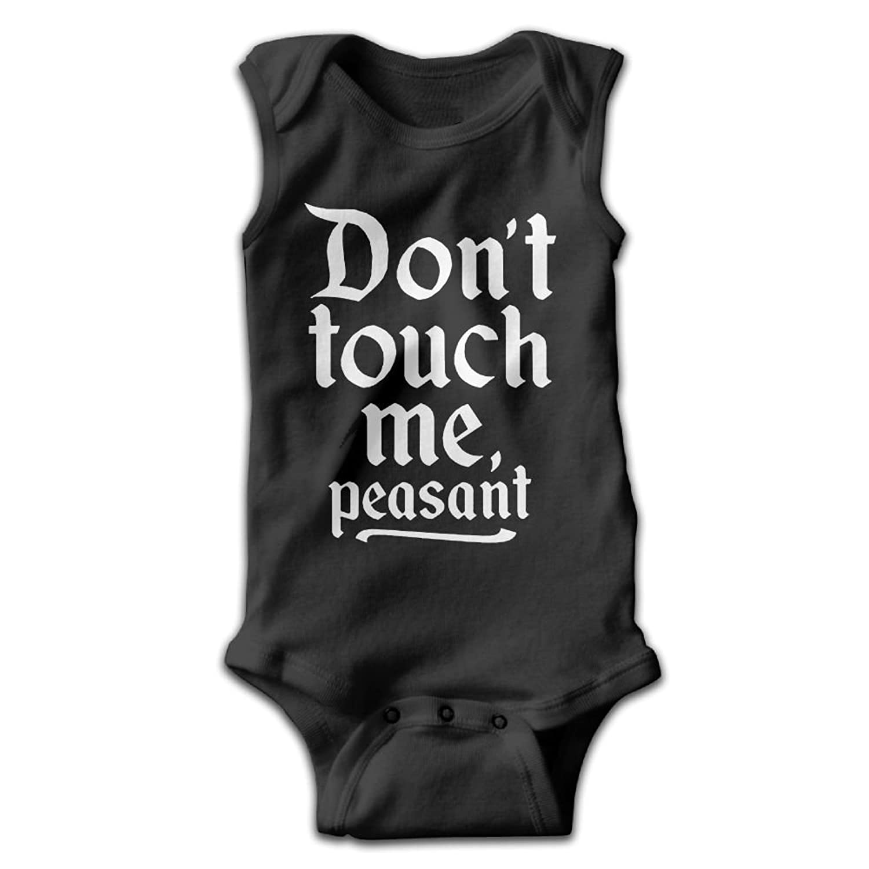 d5f2dccbd5 Midbeauty Don t Touch Me Peasant Newborn Infant Baby Summer Sleeveless  Bodysuit Romper Jumpsuits Playsuit
