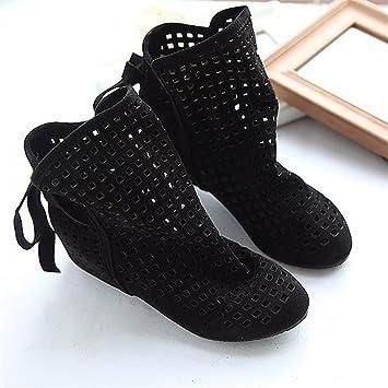 Mit der Zunahme der Kopf Hang mit Fransen Stiefel Stiefel Schnürschuhe Stiefel nach dem kalten, schwarzen, 39