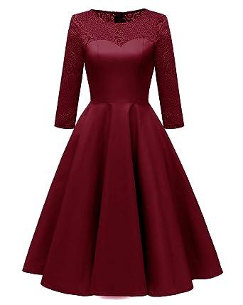 Laorchid Elegant Damen Kleid Swing Cocktailkleid 3 4 Ärmel Festlich  Business  Amazon.de  Bekleidung 52007b1aec