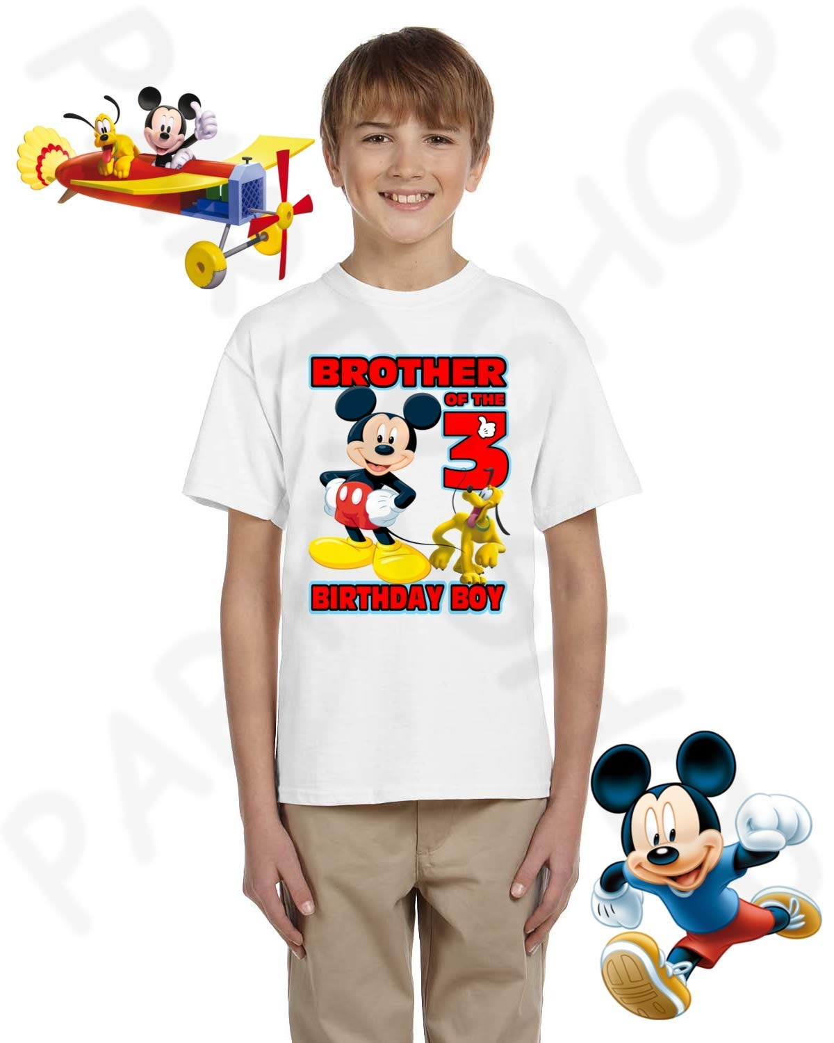 Mickey Birthday Shirt MICKEY MOUSE Party ADD Any Name And Age FAMILY Matching Shirts Pluto