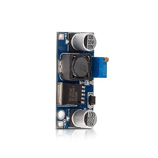 2 opinioni per kwmobile regolatore di tensione step-up XL6009 3V-32V fino a 5V-35V convertitore