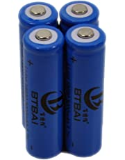 4X 18650 Battery for LED Torch Flashlight Headlamp 3.6/3.7V Li-ion Rechargeable 1.2A