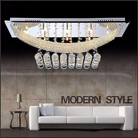 FEEKENBU Luxuriant Crystal Pendant Light With 8 Lights Ceiling Fixture Flush Mount Chandeliers Lighting