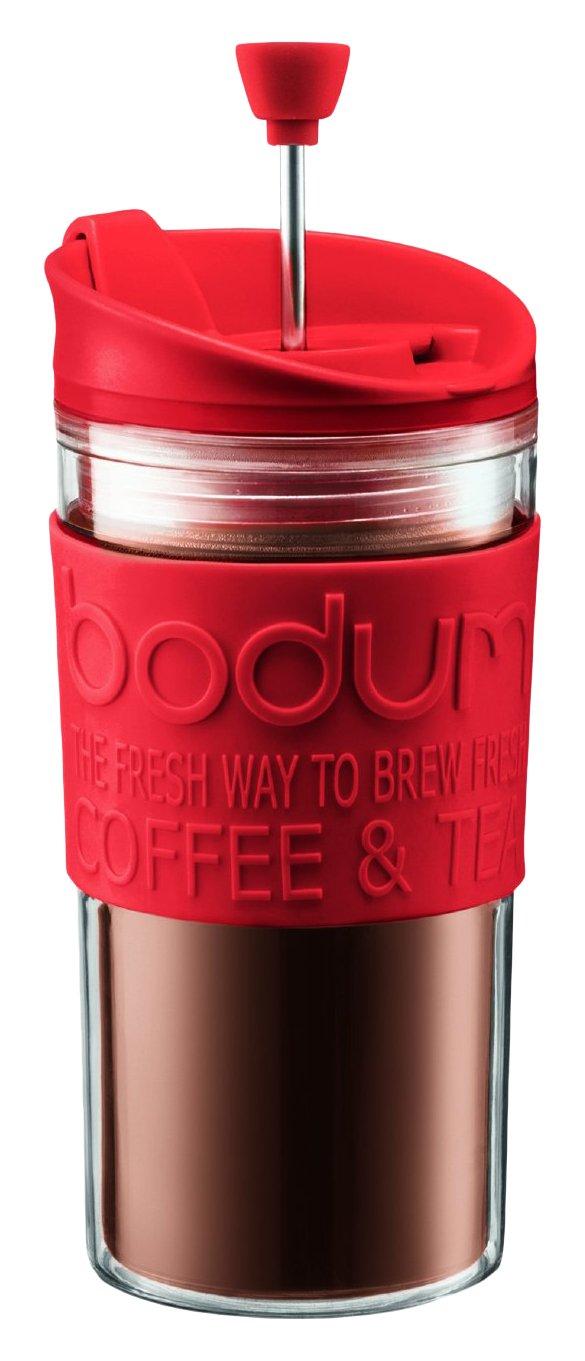 Bodum Travel Press Set Coffee Maker with Extra Lid, 0.35 L/12 oz - Off White K11102-913