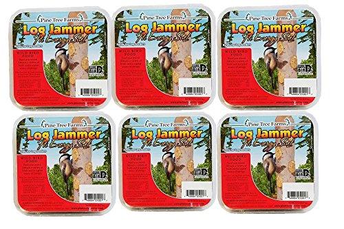 - Pine Tree Farms 6 Log Jammers Hi Energy Suet 3 Plugs Per Pack 18 Plugs Total