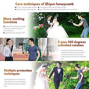 ZHIYUN Crane V2, 3-Axis Gimbal Stabilizer for Mirrorless Camera and DSLR for Sony A7 Panasonic LUMIX Nikon J Canon M