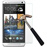 Anti Burst Tempered Glass Screen Guard Protector For HTC One M7
