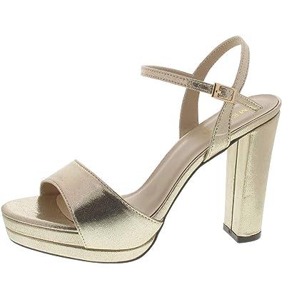 wholesale dealer 066cd 078c9 Menbur Sandalette Gold: Amazon.fr: Chaussures et Sacs