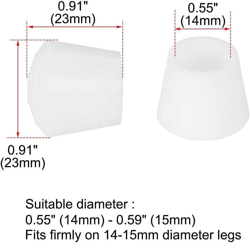 sourcing map 24Stk.Stuhlbeinkappen Gummi Beinm/ütze Trinkbecher F/ü/ße bedecken 12mm//1//2 Innendurchmesser f/ür M/öbelstuhl