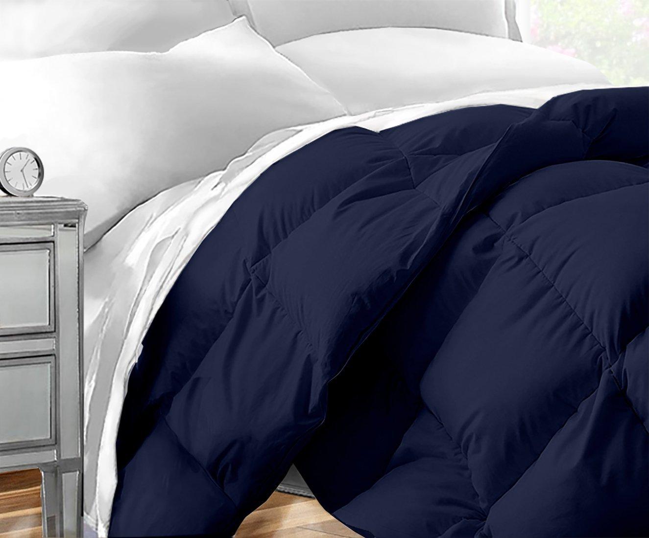 Sleep Restoration Down Alternative Comforter 1400 Series - Best Hotel Quality Hypoallergenic Duvet Insert Bedding - Full/Queen - Navy