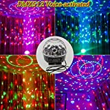 TYLED DMX512 Voice-activated LED RGB Crystal Magic Ball Rotating Effect Light Disco DJ Stage Lighting KTV Xmas Party Wedding Show Club Pub