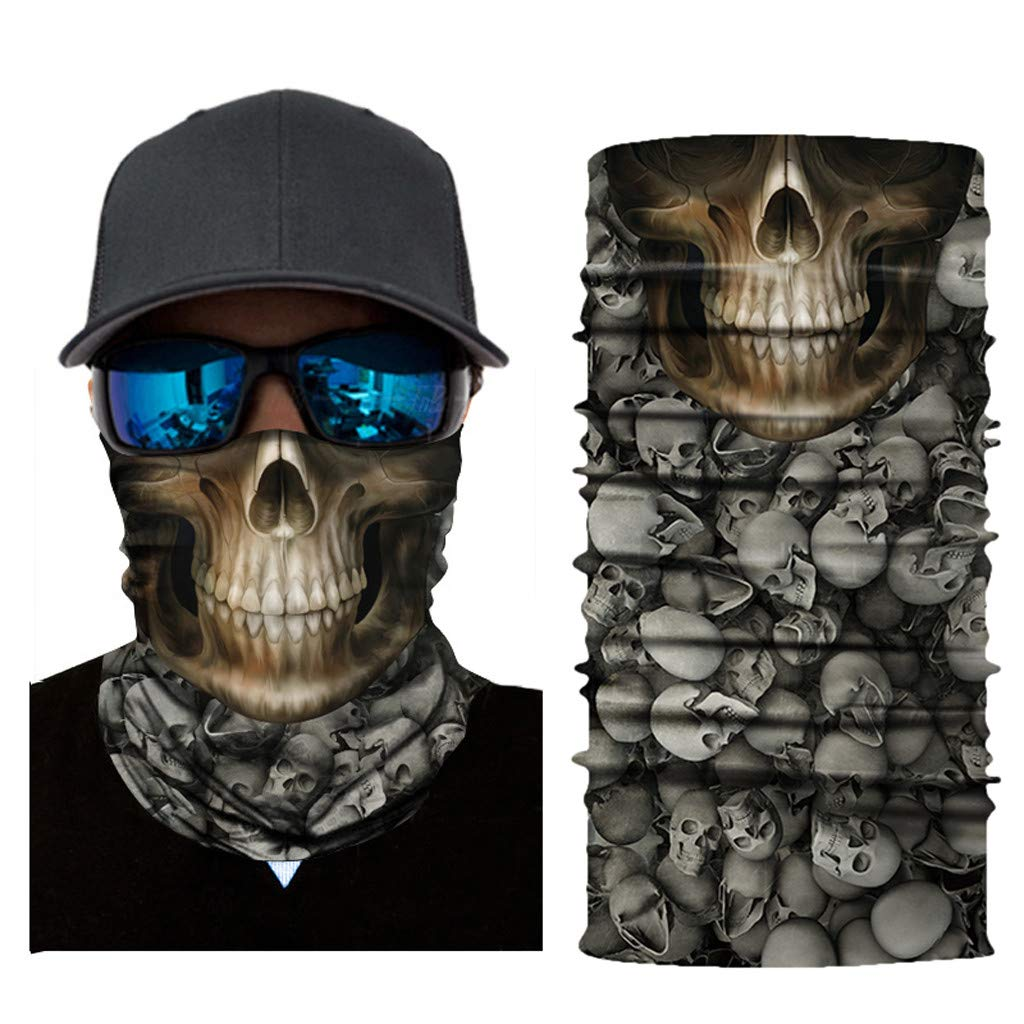 HighlifeS Cycling Motorcycle Head Scarf Full Function More Colors Ski Motorcycle Neck Tube Warmer Cycling Biker Scarf Wind Face Mask (C)