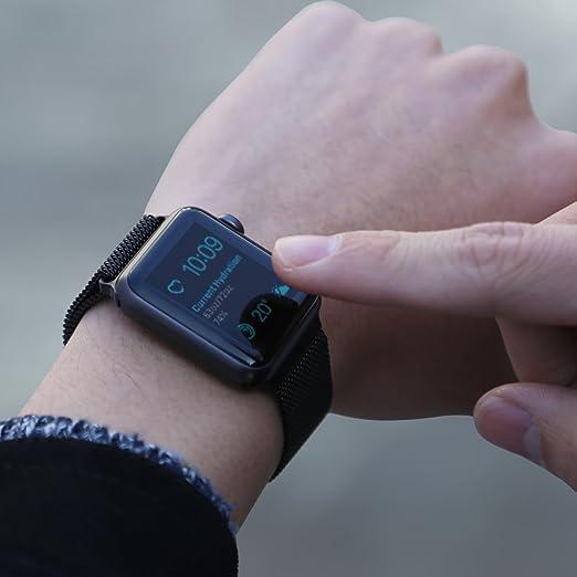 006de8692bd Pulseira Milanes Apple Watch 42mm prata (prata)  Amazon.com.br  Celulares e  Telefonia