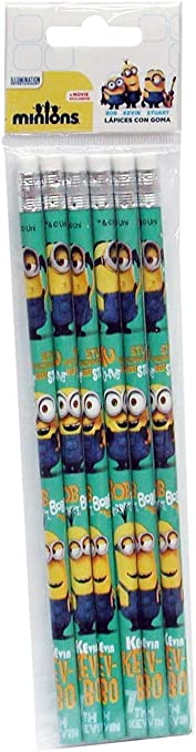 CYP Imports GS-04-MN Minions-0 Set de 6 Crayons Multicolore 0