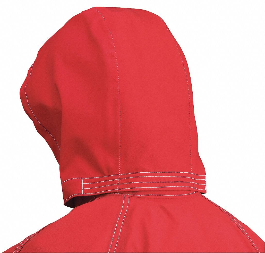 Ansell 66-664 One Size Fits All Red Sawyer-Tower CPC Polyester Trilaminate Gore Fabric 3-Piece Chemical Splash Protection Hood, Plastic, 1'' x 1'' x 1''