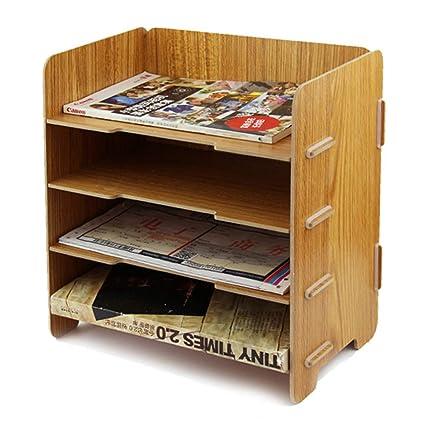 Organizador de escritorio de madera para guardar documentos ...