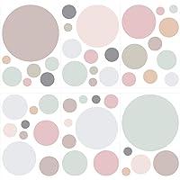 I-love-Wandtattoo Pegatina de Pared Set habitación Infantil círculos en Colores Pastel en Tonos Suaves Unidades Puntos…