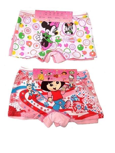 2 x dibujos animados niñas calzoncillos boxers ropa interior 3 – 10 años Mouse+Dora