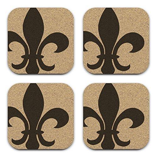 Classic Fleur De Lis Design Coaster Gift Set of 4