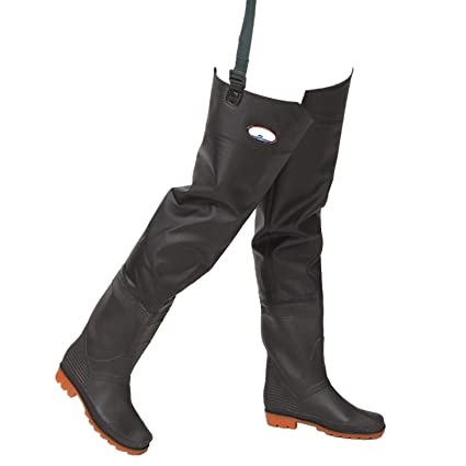 b7062c3b0af36 Amazon.com: JoyUtoy PVC Fishing Waders Hip Waterproof River Boot-Foot Fishing  Boot Hip Waders with Cleated Soles (45, Half body Black): Home Improvement