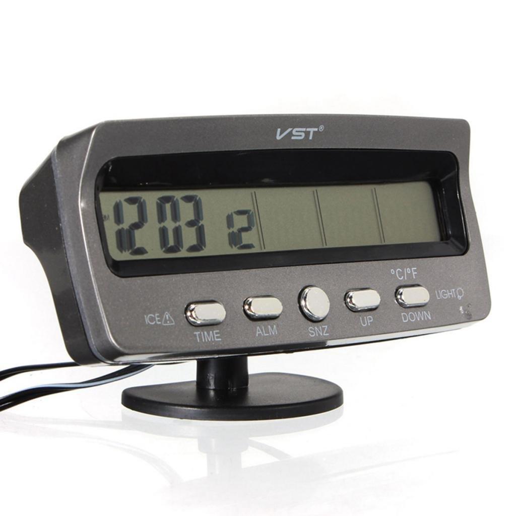 FidgetFidget Car Voltage Monitors Battery Alarm In/Out Temperature LCD Thermometer Clock by FidgetFidget (Image #3)
