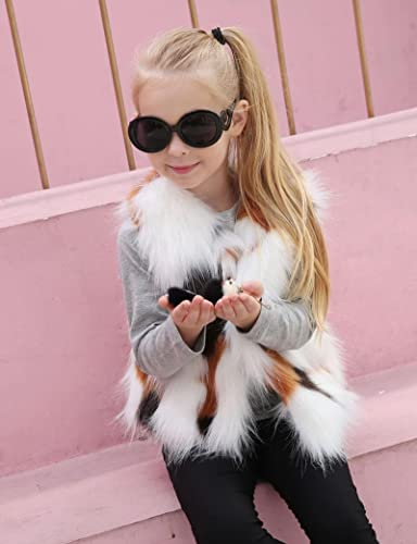 Franterd Baby Girl Autumn Winter Faux Fur Waistcoat Kid Thick Coat Warm Outwear Clothes