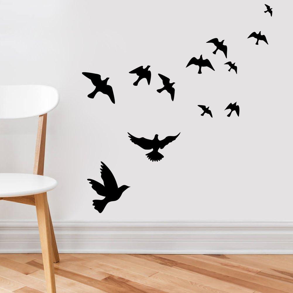 Vinyl Wall Sticker Decal Flying Swallows Set