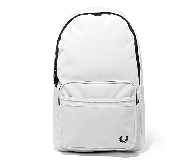 e3be3b0ea Fred Perry Men's Twin Tipped Back Pack Backpacks, Snow White, One Size
