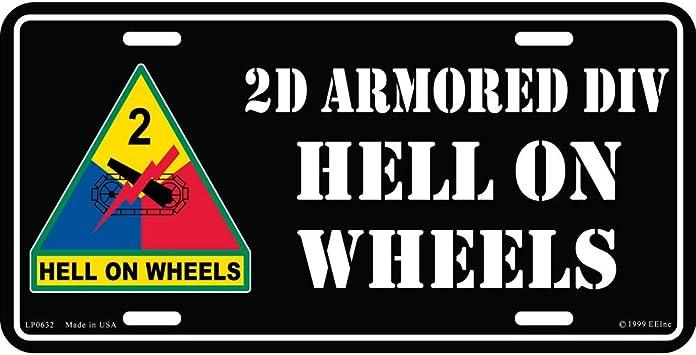 Artisan Owl United States Marine Corps USMC Automobile Metal License Plate Including Fastener Screws