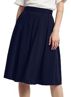d8aff95696632 Chouyatou Doble de la Mujer Botones Laterales de la Cintura Falda Plisada