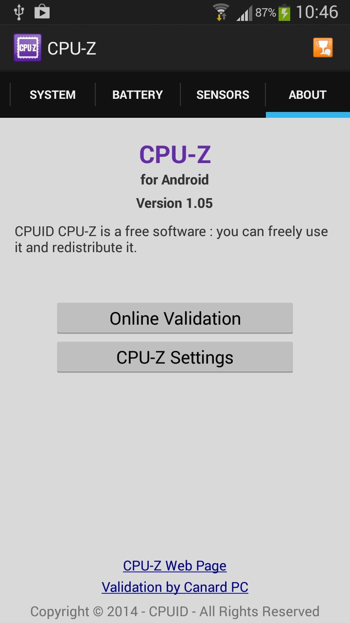 cpu z free download apk