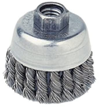 Radnor 2 3//4 X 1//2-13 Carbon Steel Knot Wire Cup Brush