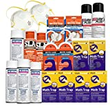 MOTH KILLER KIT for Clothes Moths & Carpet Moths by Moth-Prevention - EXTREME POWER!