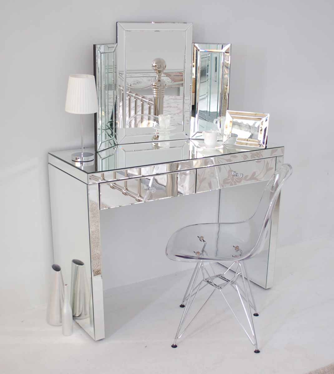 Glass dressing table - My Furniture Venetian Mirrored Dressing Table Aphrodite Amazon Co Uk Kitchen Home