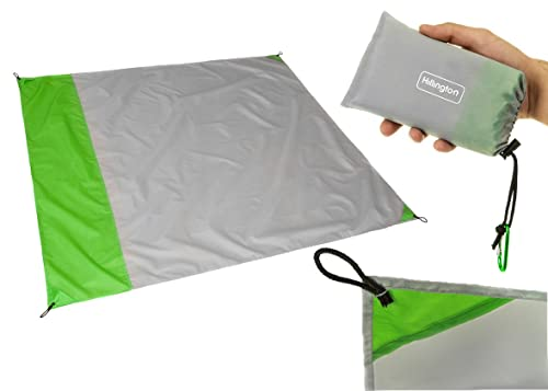 Hillington Portable Compact Pocket Size Waterproof & Sandproof Picnic Blanket – Lightweight Mat with Carry Case - Perfect For Camping, Picnics, Beach Trips, Hiking & the Outdoors