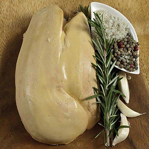 Rougie Whole Lobe of Fresh Duck Foie Gras, Grade A, Flash Frozen, 1.3 lbs ()