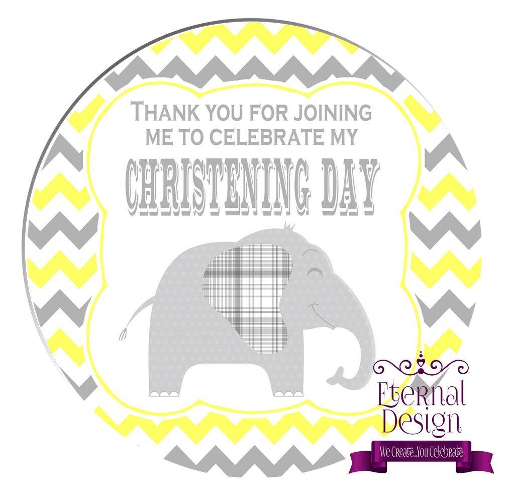 Eternal Design 48 x 30mm Christening Day White Stickers CDCS 2