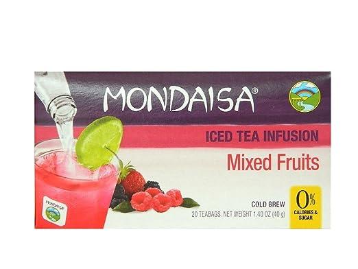 mondaisa mezcla Frutas Iced Tea Infusión, 40 Bolsas de té ...