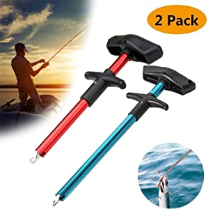 Easy Fish Hook Remover Squeeze-Out Fish Hook Separator Tools, Portable Easy Reach Stainless Steel Fishing Hooks Extractor T-Type Fish Hook Puller Fast Decoupling Minimize Injuries Fishing Hand Tool