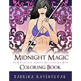 Midnight Magic: Fantasy Adult Halloween Coloring Book