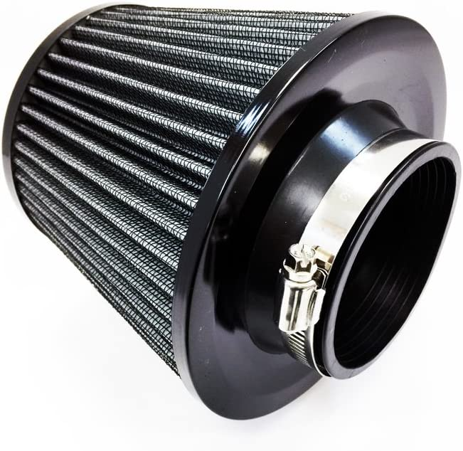 Black Racingbees Universal Car 3 Inch Multi Color Air Filter with Clamp