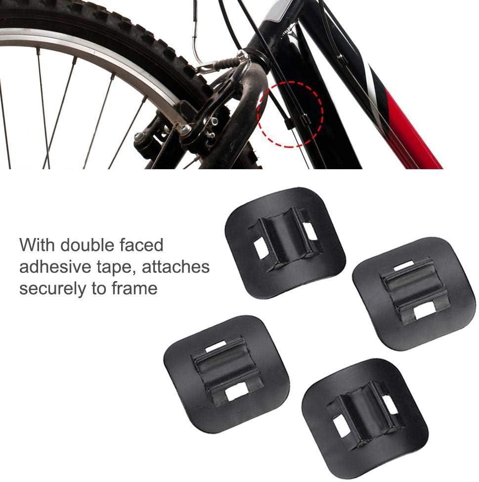 Guía de Cable de Freno Cable de Bicicletas C-Clips Hebillas Guías de Cable C-Clips,4 Pcs Bicicleta de Montaña Adaptador de Palanca de Guía de Tubo de Cable de Freno Bicicleta Frame C