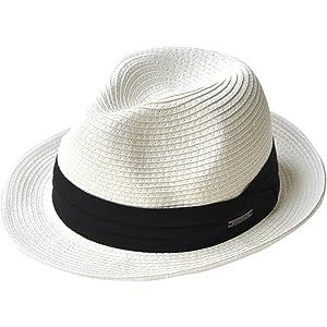(エッジシティー)EdgeCity 折りたたみ可能 大きいサイズ メンズ 麦わら帽子 ストローハット L 61cm 000319-0085-61