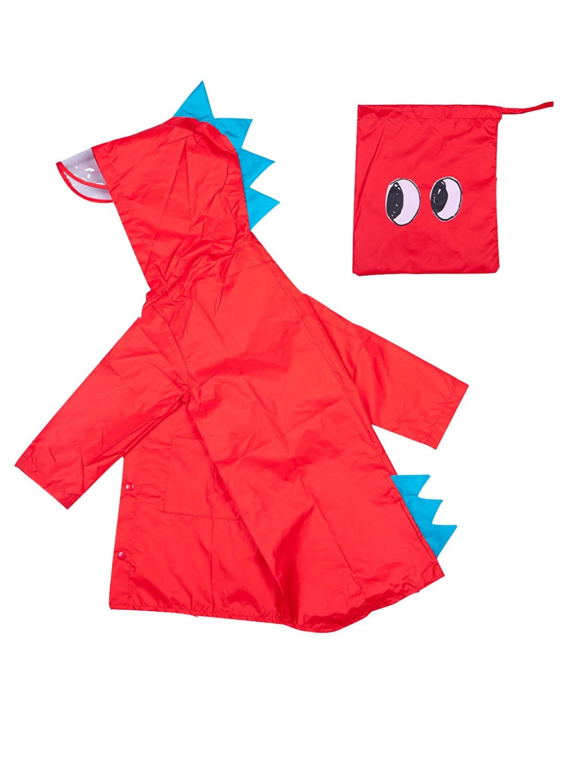 meilushangmaoyouxiangongsi Small Dinosaur Raincoat Jacket for Little Children Girls Boys Toddlers